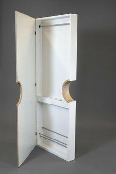 Doorobe - extra storagespace to hang on an existing door. By Henrik Silfernagel