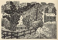 Royal Academy Pack of 5 Charity Christmas Cards by Eric Ravilious - Considerable Falls of Snow Charity Christmas Cards, Christmas Card Packs, Christmas Stuff, Xmas, Art And Illustration, Illustrations, Antique Illustration, Royal Academy Of Arts, Art Graphique