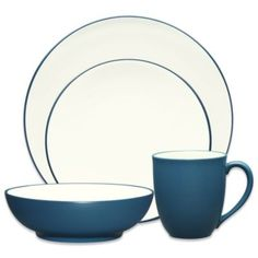 Noritake® Colorwave Coupe Dinnerware in Blue - BedBathandBeyond.com