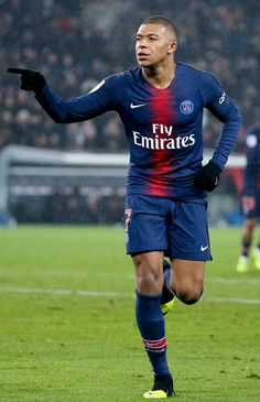 PARIS, FRANCE - JANUARY Kylian Mbappe of PSG celebrates his first goal during the french Ligue 1 match between Paris Saint Germain (PSG) and En Avant Guingamp at Parc des Princes on January 2019 in Paris, France. (Photo by Jean Catuffe/Getty Images) Football Squads, Football Soccer, As Monaco, Mbappe Psg, Sonny Bill Williams, All Star, Paris Saint Germain Fc, Barcelona Football, Watch Football