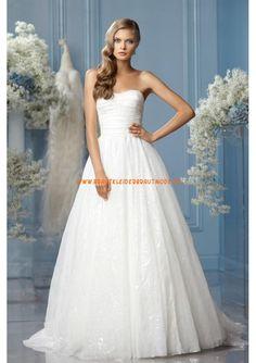 2013 Neue Brautkleider traumhaft aus Organza und Satin A-Linie günstig Brautkleid