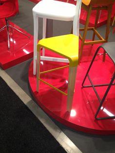 Yellow tri stool