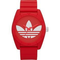 adidas originals Watches Santiago Men' ($95) ❤ liked on Polyvore featuring men's fashion, men's jewelry, men's watches, watches, fashion accessories, red, mens watches, mens watches jewelry and mens red watches