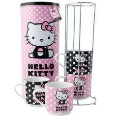 Hello Kitty stacking mugs set