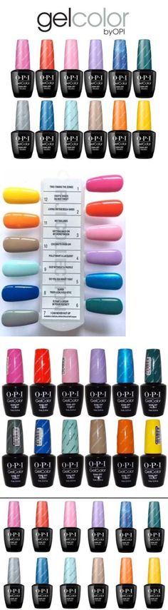 Gel Nails: Opi Gelcolor Uv/Led Fiji Collection Spring ~Set Of 12 Gel Polish New Authentic BUY IT NOW ONLY: $168.75