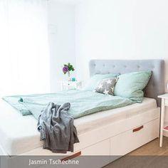 Gepolstertes Kopfteil Fürs Bett Selberbauen | Pinterest | Room Goals, Bed  Room And Interiors