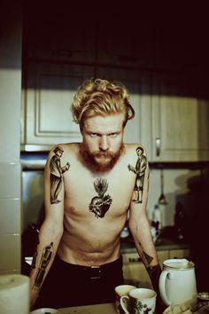 tattoo x....his facial expression cracks me up.