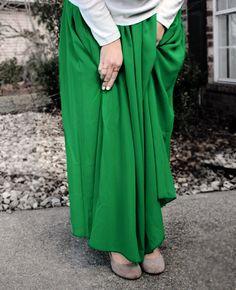 Green Maxi Skirt – Delicate Hijabi
