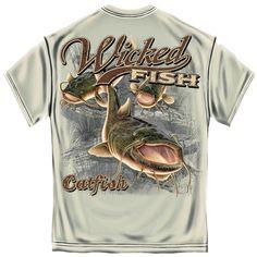 Mens Catfish Fishing Tee Shirt - The Rustic Shop