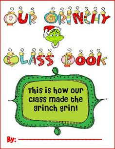 Mel D-Seusstastic This is a class book my class does after our principal reads . Mel D-Seusstastic This is a class book my class does after our principal reads The Grinch Who Stol Grinch Christmas Party, Preschool Christmas, Grinch Party, Christmas Crafts, Christmas Ideas, Christmas Stuff, Christmas Time, Holiday Ideas, Christmas Writing