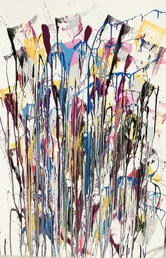 Pollock - This is actually: Winter color in beef Jackson Pollock action painting 2011 new style - Modern and Contemporary Art, 	Paintings, Mixed media - Author: Doc. Th