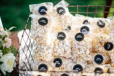 Or give out mini popcorn bags for guests to snack on during the ride home. 19 DIY Wedding Shower Favors That Are Stupid Easy Wedding Favors And Gifts, Popcorn Wedding Favors, Bridal Shower Favors Diy, Popcorn Favors, Edible Wedding Favors, Popcorn Bags, Party Favors, Before Wedding, Wedding Ideas