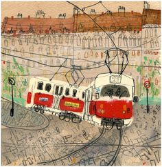 Gallery — Clare Caulfield - UK Artist and Printmaker Art And Illustration, Gravure Illustration, Illustrations And Posters, Urban Sketching, Art Graphique, Oeuvre D'art, Art Inspo, Painting & Drawing, Printmaking