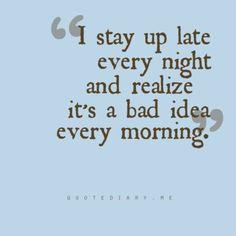 Bad idea!