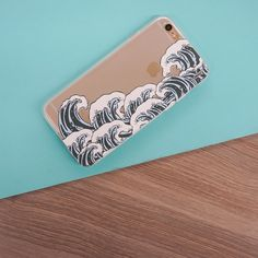 Clear TPU Case Cover - Full Great Wave Off Kanagawa – Milkyway