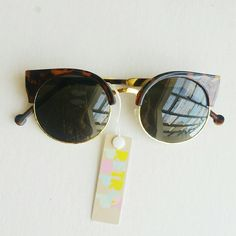 Retro shades Retro inspired Black shades with gold and brown frame Condition : new with tags  Brand : Retro Pop retro pop Accessories Glasses