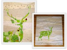 Stag Quilt by Daniel Rouse... beautiful!