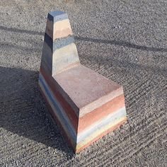 Rammed earth chair. Eric Haskins