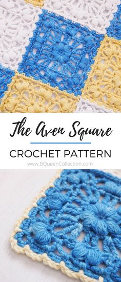 This square pattern is named after the Mountain Aven flower, found in the Colorado Rocky Mountains. The white flower has eight petals, and thrives in cold mountainous regions.  PATTERN NOTES  The Aven Square is worked over seven rounds, with basic stitches yet seemingly intricate details. It is designed for easy join-as-you-go to make large projects, and can be worked in any weight with the appropriate sized crochet hook.  Included in The Aven Square Pattern PDF are the written instructions…