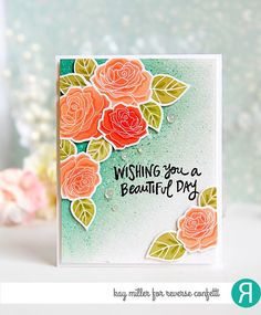 The Rose Garden stamp set features 3 rose images, 4 leaf images, 2 sentiments and an addition greenery/baby's breath image for endless possibilities of beautiful bouquet building.