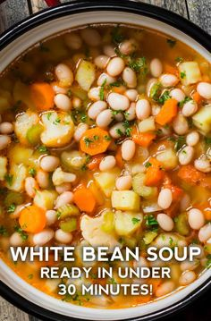 Rustic Autumn Vegetable Soup White Bean Soup More from my site Creamy Instant Pot White Chicken Chili ★★★★★ 729 Hearty Vegetable Soup Vegetable Soup – Dinner, then Dessert Hearty Pasta Fagioli Soup Vegetable Soup Recipe