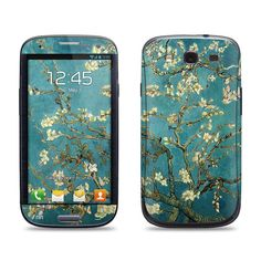 Samsung Galaxy S3 Phone Case Cover Decal - Van Gogh Blossoming Almond Tree - Galaxy S4 Case Cover Decal