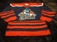 charlotte jr checkers game worn junior hockey jersey echl old logo sewn crest b from $29.99