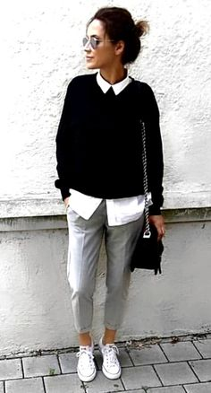 30 Street Style Outfits To Inspire - Game of Spoons 30 Street Style Outfits To In . , 30 Street Style Outfits To Inspire - Game of Spoons 30 Street Style Outfits To In . Summer Work Outfits, Casual Work Outfits, Business Casual Outfits, Work Attire, Work Casual, Autumn Casual Outfits, Smart Casual Office, Formal Outfits, Black Outfits