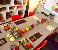 Myers' Kindergarten: Inquiring About Apples Preschool Apple Theme, Preschool Decor, Preschool Art Projects, Apple Activities, Fall Preschool, Kindergarten Science, Autumn Activities, Preschool Activities, September Preschool