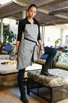 Restaurant Kitchen Uniforms waitress and waiter aprons - server aprons - waitress, waiter and