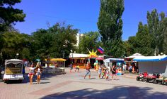 Центральная набережная в Евпатории. 15 августа 2014 г.