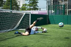 @officialkeith showing off his skill in goal.....we use the term, in this case, 'skill' quite loosely