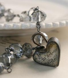 Vintage love necklace jewelry.