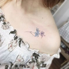 a forget me not #tattoo#tattoos#tattooing#tattoowork#tattooart#flowertattoo#colortattoo#miniflower#minitattoo#타투#꽃타투#타투이스트꽃 #tattooistflower
