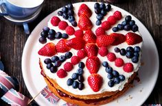 union jack celebration cake - will it last long enough to reach the table??