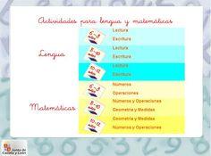 Colegio José Calderón: Actividades de lengua y matemáticas para E. Primaria