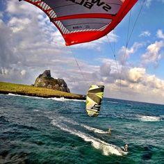 Kitesurf in Paradise.. #kitesurf #noronha #cabrinhakites #naishkites #gopro by rodportela