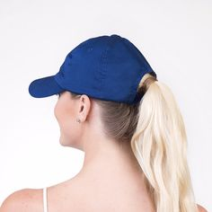 Blue My Mind - Ponytail Baseball Cap - Zipper in the Back!