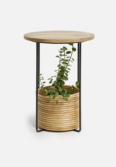 Neo side table - natural Living Furniture, Home And Living, Rattan, Flooring, Metal, Table, Bedroom, Home Decor, Lounge Furniture