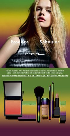 """#ProenzaShouler, a New York based fashion house, has partnered with #MACcosmetics to launch this """"limited edition"""" make-up collection. A fresh and light-wearing colour palate for #Summer is NOW available at MAC on Front Street."""