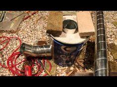 ブロックで作られた簡易的ロケットストーブ | DIY引き篭り部