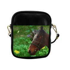 Horse and Grass Sling Bag (Model 1627)
