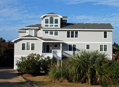 VERANDAH BREEZE, #494 l Duck, NC Vacation Rental Home l Oceanside, 8 bedrooms, elevator, recreation lounge, sports tower, cabana bath, heated pool, hot tub and community amenities. l Special pricing week of 7/6/14. l www.CarolinaDesigns.com