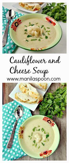 Cheesy-licious, thick and creamy - of course it's healthy, too - Cauliflower Cheese Soup.
