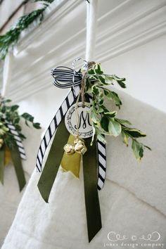 embellishing white stockings