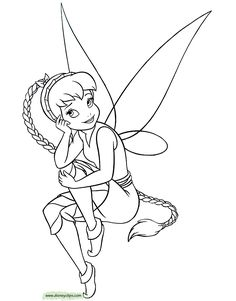 Printable Coloring Pages Of Disney Fairies Tinker Bell