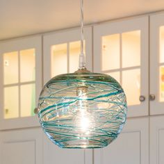 Glass Pendant Lights - Shades of Light. Paint DR fan lights to resemble this?