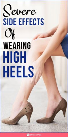 Severe Side Effects Of Wearing High Heels: The article gives you ten health reasons why you should say no to those pencil heels! Want to know what they are? Read the post! #sideeffects #heels #healthcare #wellness Pencil Heels, Side Effects, Character Shoes, Health Care, Kitten Heels, High Heels, Dance Shoes, How To Wear, Fashion