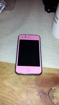 Apple iPhone 3GS - 8GB - Black (AT&T) - Custom PINK front