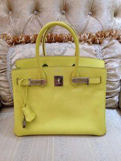 Hermes White Gold 30cm Birkin Bag GHW